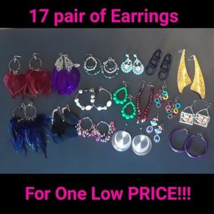 Jewelry - 50% OFF LOT of 17 Stylish pair of Earrings